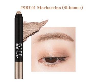 ++พร้อมส่ง++Missha Eye Fit Shadow 1.3g สี SBE01 อายแชโดร์เนื้อชิมเมอร์ นุ่ม สีสวย ติดทนนาน ใช้ง่าย พกพาสะดวก