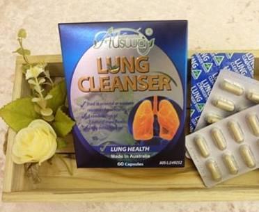 Ausway Lung-Cleanser วิตามินล้างสารพิษปอด ขจัดสารพิษจากปอด การล้างพิษที่ปอด ขนาด 60 แค็บซูล