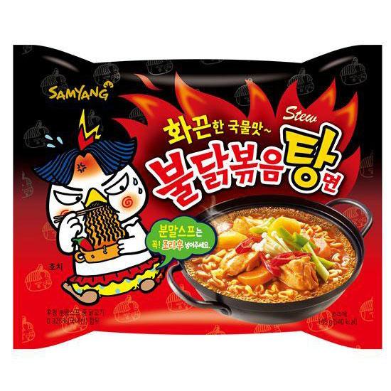 พร้อมส่ง ** Samyang Hot Chicken Stew Ramen มาม่าเผ็ดเกาหลี สูตรน้ำซุบรสสตูว์ไก่ 145 กรัม