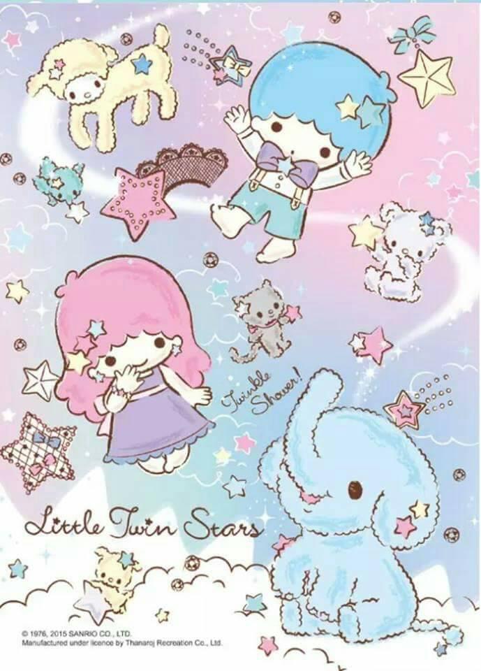 Jigsaw Puzzle Sanrio Little twin stars 500pcs. จิ๊กซอว์ลิตเติ้ล ทวิน สตาร์ 500ชิ้น