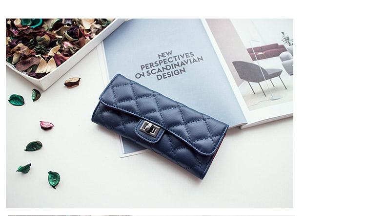 กระเป๋าสตางค์หนังแกะ linly blue