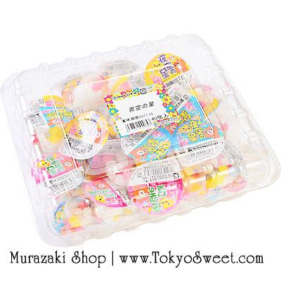 พร้อมส่ง ** Star Confeito ลูกอมญี่ปุ่นรูปร่างน่ารักเหมือนดาว สีสรรสดใส กล่องใหญ่ 40 ถ้วย