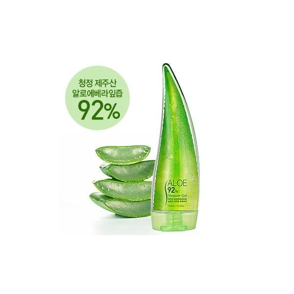 ++พร้อมส่ง++Holika Holika Aloe 92% Shower Gel 250ml เจลอาบน้ำทำความสะอาดร่างกายสูตรอ่อนโยน มอบความชุ่มชื้นแก่ผิวทุกประเภท ด้วยสารสกัดจากใบว่านหางจระเข้ที่ช่วยให้ผ่อนคลาย รู้สึกสดชื่น สบาย