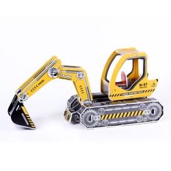 3มิติ ตัวต่อกระดาษโฟม Excavator puzzle toy 3D shop Happiness is handmade