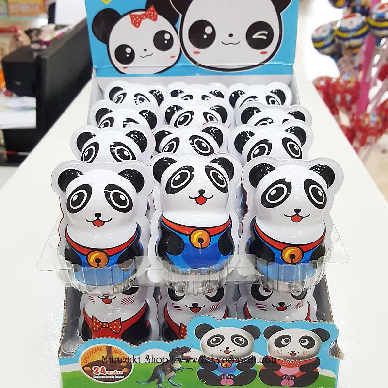 พร้อมส่ง ** Choco Egg - Panda BOX ไข่ช็อคโกแลต แถมของเล่น แพ็ค 24 ลูก (สินค้ามีอย.ไทย) **แพ็คเกจใหม่จะเป็นสีแดงตามในรูปที่ 2 นะคะ**