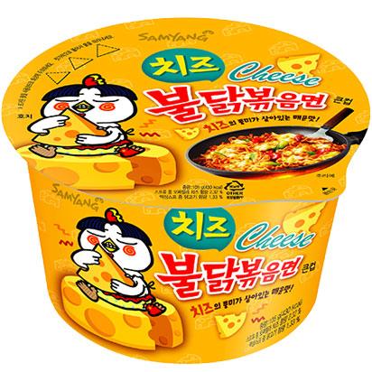 พร้อมส่ง ** Samyang Hot Chicken Ramen Cheese มาม่าเผ็ดเกาหลีแบบแห้ง รสชีส แบบถ้วย 105 กรัม