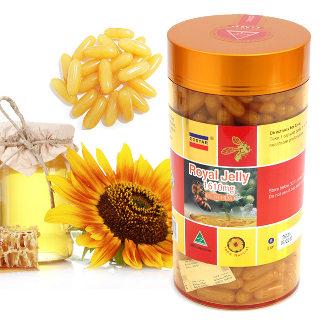 Costar Royal Jelly 6% 1610 MG ขนาด 365 เม็ด นมผึ้งแท้