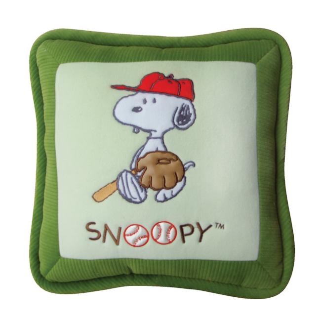 หมอนอิง Snoopy (เบสบอลเขียว)