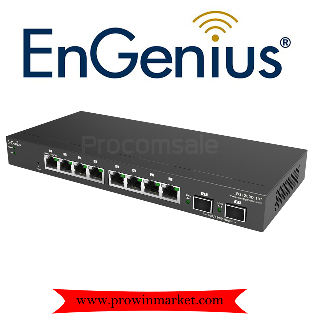 ENGENIUS EWS1200D-10T 8-Port Gigabit