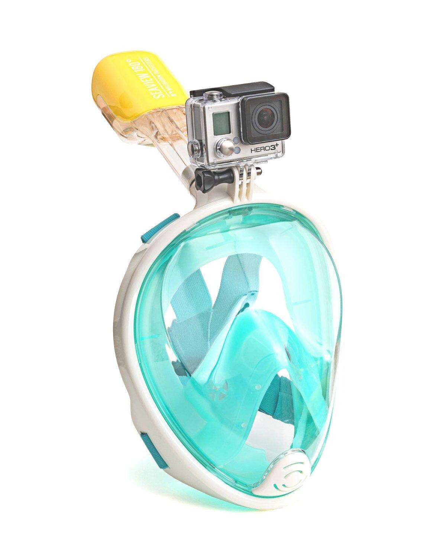 Easy Breath snorkeling mask - Size S/M - [ เขียว ] (Sea Travel)