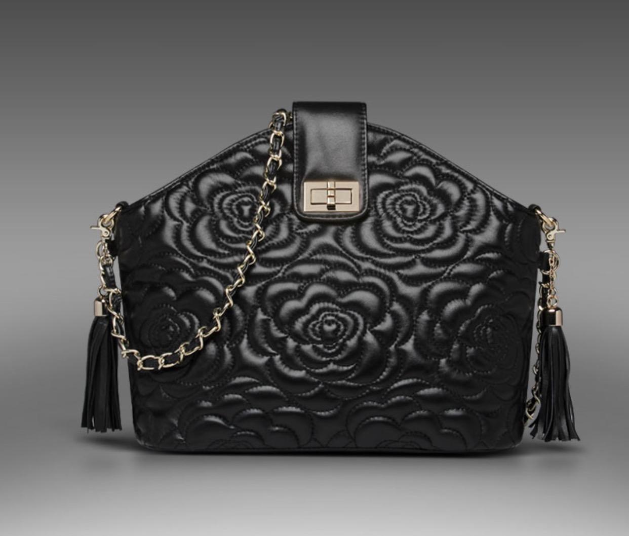 กระเป๋าหนังแกะ Miss cozy black