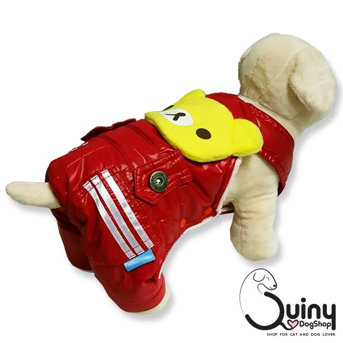 เสื้อสุนัข เอี๊ยมหมี สีแดง