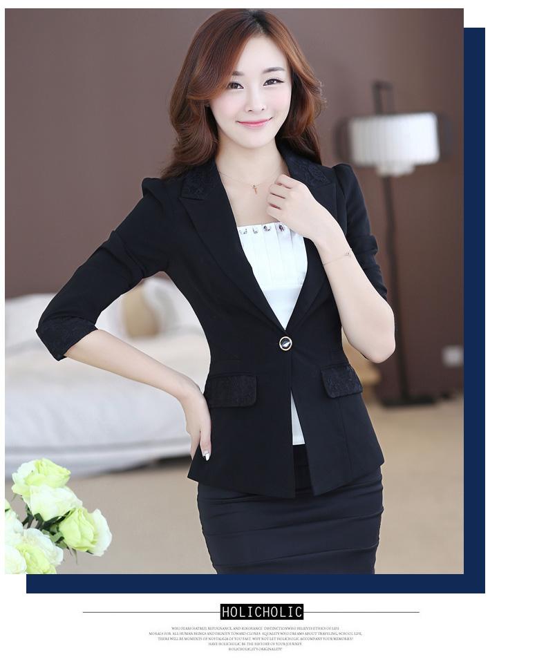 เสื้อสูทสีดำแขนยาว สีสุภาพ