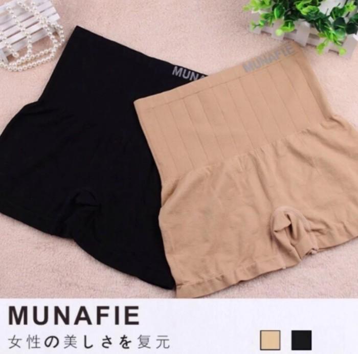 MUNAFIE กางเกงเก็บพุงกระชับสัดส่วนรุ่นขาสั้น กางเกงในญี่ปุ่น MUNAFIE รุ่นขาสั้น ใส่เป็นซับในพร้อมกระชับหน้าท้อง ผ้าเนื้อดีมีความยืดหยุ่นสูง