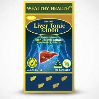 Wealthy Health Liver Tonic 33000 mg. ออสเตรเลีย บำรุงตับ ล้างสารพิษในตับ สุขภาพตับดี ผิวพรรณก็ดีด้วย สุขาภาพก็ดีด้วยจ้า ขนาด 100 เม็ด