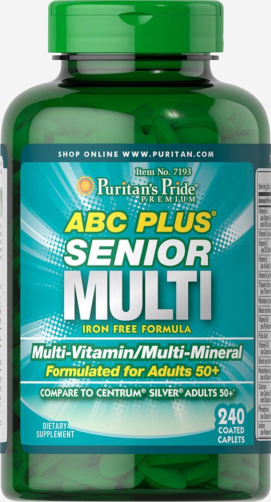 วิตามินรวม ผู้สูงอายุ Puritan's Pride ABC Plus Senior Multivitamin ขนาด 240 เม็ด