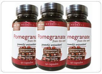 ( 3 ขวด ) สารสกัดทับทิม Neocell Pomegranate Extract 1000 mg (USA)
