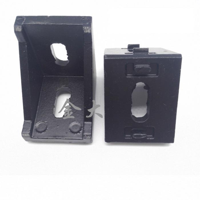 Bracket D 30 สำหรับอลูมิเนียมโปรไฟล์ 3030 สีดำ