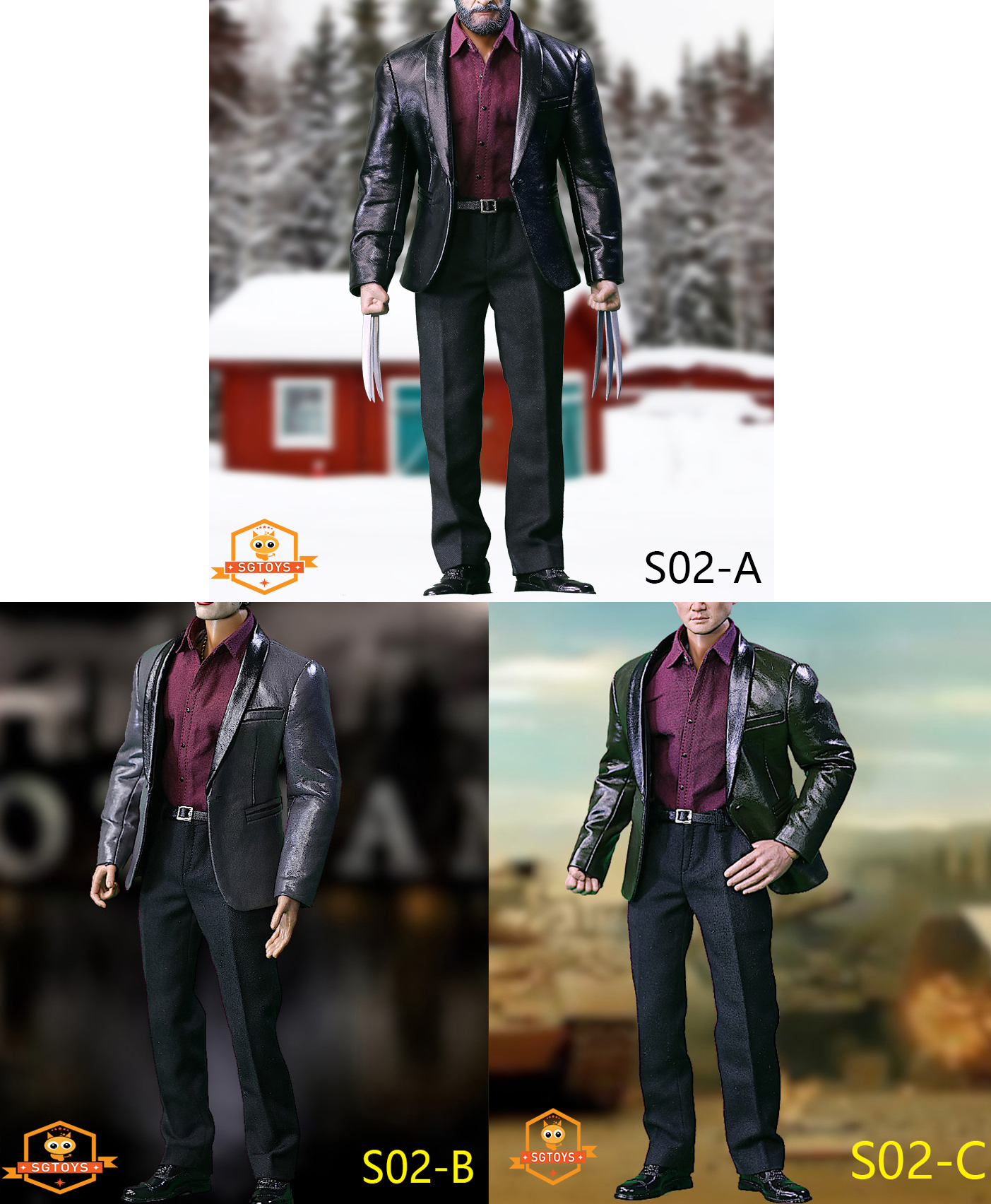 SGTOYS S02 Leather Suit