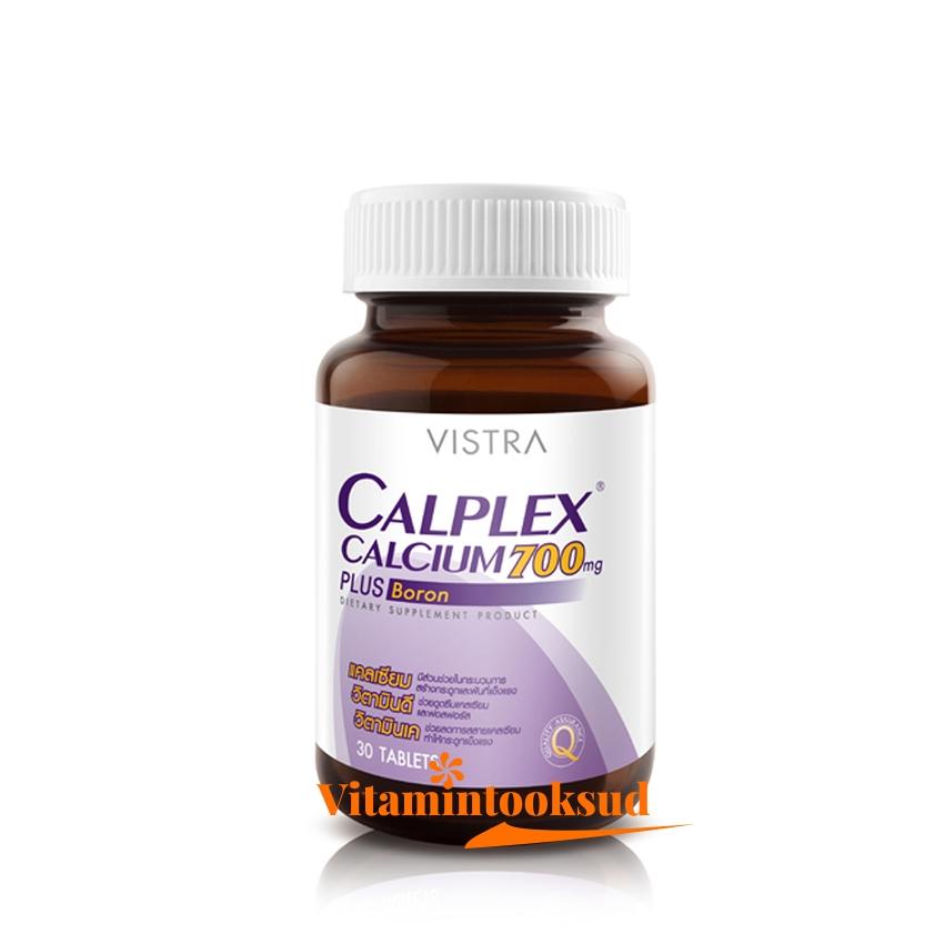 VISTRA Calplex Calcium 700 mg Plus Boron 30 Tablets