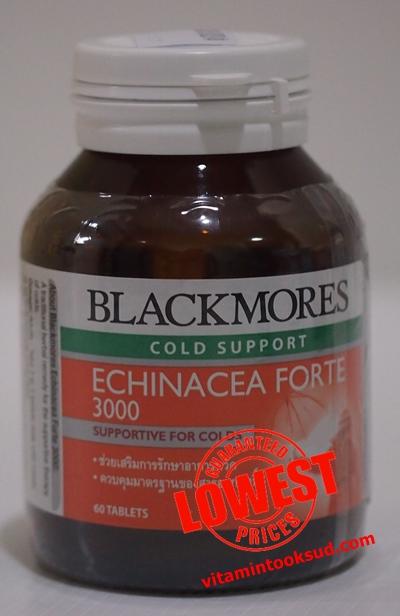 Blackmores Echinacea Forte 3000 แบลคมอร์ส เอ็กไคนาเซีย ฟอร์ท 3000 60 เม็ด ถูกสุด ส่งฟรี