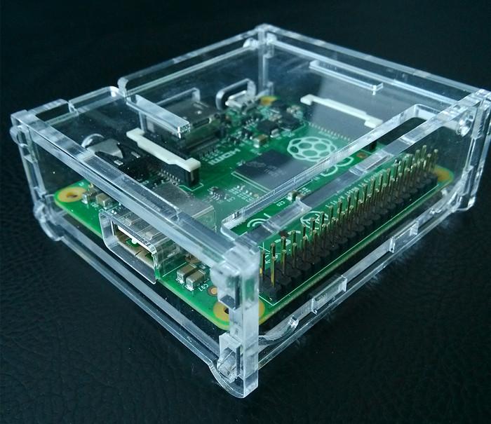 Raspberry Pi A + acrylic case