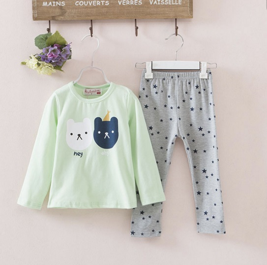 Pre-order ปลีก เซทเสื้อ+กางเกง / Size 100 /สีเขียว