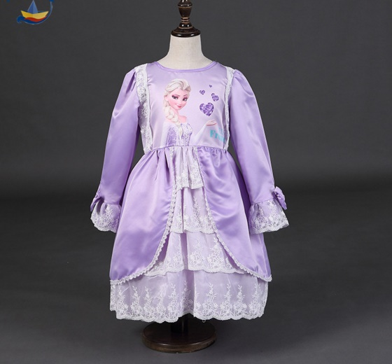 Pre-order ชุดเอลซ่า / Size 120 / purple