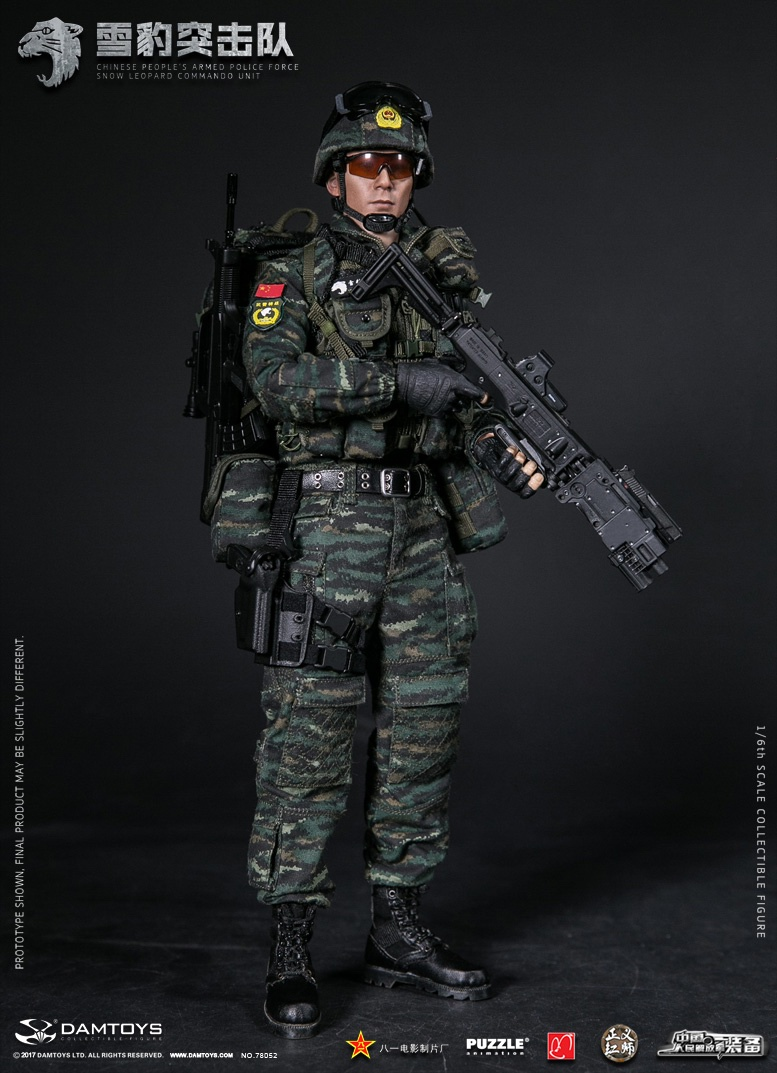DAMTOYS 78052 CHINESE PEOPLE'S ARMED POLICE FORCE SNOW LEOPARDCOMMANDO UNIT TEAM MEMBER