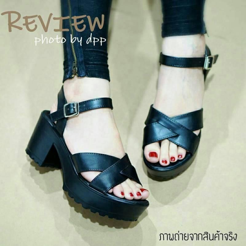 พร้อมส่ง : รองเท้าแฟชั่น Style Nanda Shoes (สีดำ)