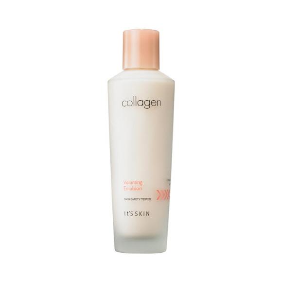 **พร้อมส่ง**It's Skin Collagen Voluming Emulsion 150 ml. โลชั่นบำรุงผิวหน้าสูตรเข้มข้น เติมเต็มคอลลาเจนสู่ผิว ริ้วรอยตื้นขึ้น ผิวกระชับเรียบเนียน ผิวนุ่มชุ่มชื้น ให้ผิวคืนความยืดหยุ่นที่สูญเสียไป ลดเลือนริ้วรอย รักษาความชุ่มชื้นบนใบหน้า ผิวจะดูเรียบเ