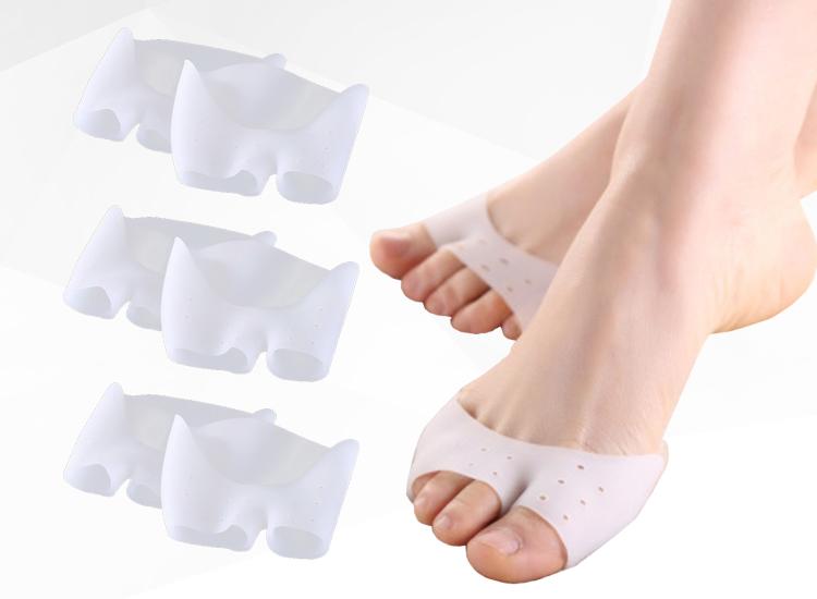 ซิลิโคนสวมนิ้วเท้าปลายตัด 5 นิ้ว ป้องกันตาปลา (x3ชิ้น)