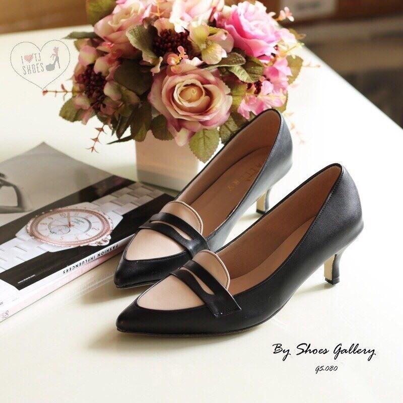 พร้อมส่ง : รองเท้าคัทชูหนังนิ่ม (สีดำ)
