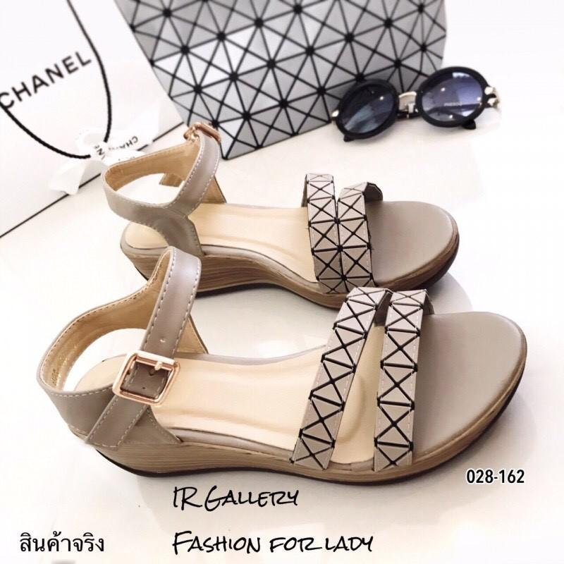 รองเท้าส้นเตารีดสไตล์ BaoBao (สีเทา)