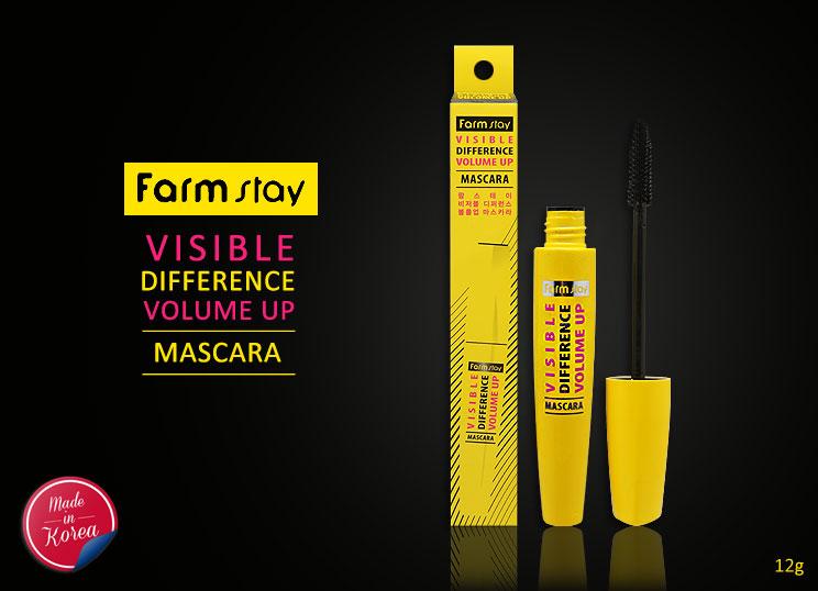 *พร้อมส่ง*Farm Stay Visible Difference Volume Up Mascara มาสคาร่าที่ช่วยเพิ่มความหนา ให้ดวงตาดูกลมโตมากยี่งขึ้น ผลิตด้วยส่วนผสมจากธรรมชาติไม่เป็นอันตรายต่อเปลือกตา ไม่เป็นจับเป็นก้อน เงาสง่างาม ง่ายต่อการพกพา ช่วยต่อขนตายาวโดดเด่น ทำให้ขนตาของคุณมีสุขภาพ