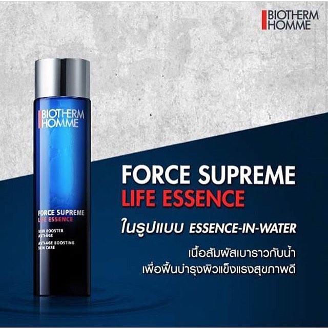 **พร้อมส่ง**Biotherm Homme Force Supreme Life Essence 100ml. เอาใจคุณผู้ชายด้วยผลิตภัณฑ์ใหม่ บูสต์ความอ่อนเยาว์และผิวดูเรียบเนียนกระจ่างใสใน 5 วัน เนื้อสัมผัสแบบลิควิดเข้มข้นพิเศษด้วยส่วนผสมของ Life Plankton 5% นี้จะช่วยฟื้นบำรุงความเรียบเนียนของผิวในทันท