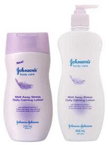 Johnson & Johnson Melt Away Stress Daily Calming Lotion จอห์นสันบอดี้แคร์ สูตร เมลท์อเวย์สเตรส (สีม่วง)