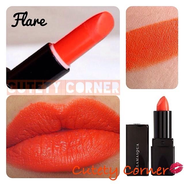 **พร้อมส่ง**ILLAMASQUA Lipstick ขนาดปกติ 4 g. #Flare สีส้มสด ลิปสติกอีลลามาสก้า สินค้าแบรนด์ดังจากเกาะอังกฤษ ที่สร้างความสดใสและสีสันสำหรับเมคอัพของคุณ เนื้อแน่น สีชัด ติดทนมากค่ะ ,