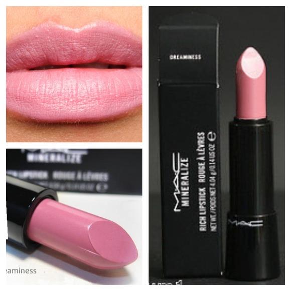 **พร้อมส่ง**MAC Mineralize Rich Lipstick #Dreaminess ลิปสติกเนื้อละมุนเนียนชุ่มชื่น ความเข้มข้นของเม็ดสีชัดเจน หลอดดีไซน์สวยเปิดปิดด้วยแม่เหล็กดูด ,