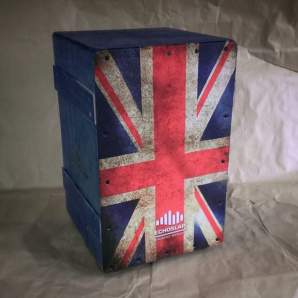 คาฮอน Echoslap ลาย ถังเก่า ธงชาติ อังกฤษ และ อเมริกา