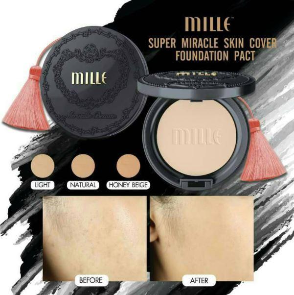 Mille Super Skin Cover Foundation Pact แป้งตัวใหม่ล่าสุดจากมิลเล่จ้า ออกมาต้อนรับสงกรานต์เลยค่ะ สวยเป๊ะ หน้าปัง ไม่กลัวน้ำค่ะ แป้งดำมิลเล่ แป้งผสมชาโคลปกปิดในระดับ HD คุมมัน กันน้ำ กันเหงื่อ สงกรานต์เอาอยู่จ้า