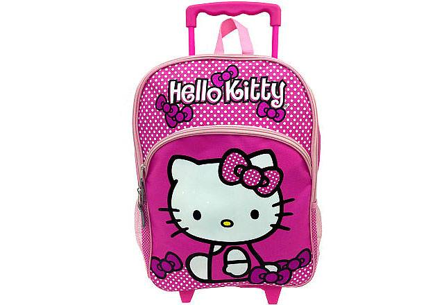 กระเป๋าล้อลาก Hello Kitty Girl's Rolling Backpack - Pink