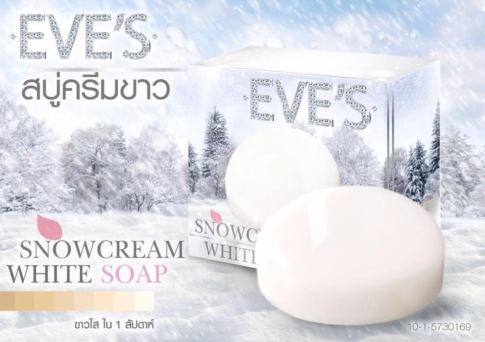 SNOWCREAM WHITE SOAP By EVE'S สโนว์ครีม ไวท์ โซฟ สบู่ครีมขาว