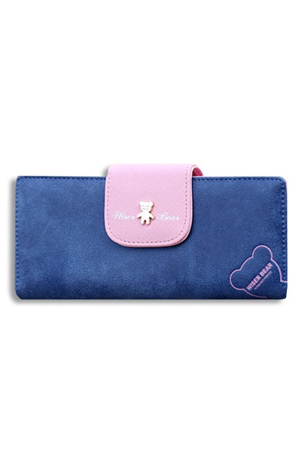 กระเป๋าสตางค์ผู้หญิง ทรงยาว Wiser Bear - Navy