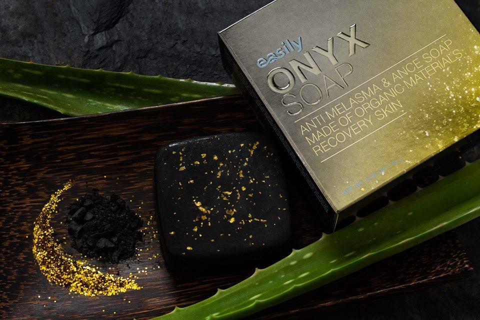 easily ONYX SOAP by Pcare Skin Care สบู่โอนิกซ์ ขาวใส ไร้สิว ลดฝ้า กระ