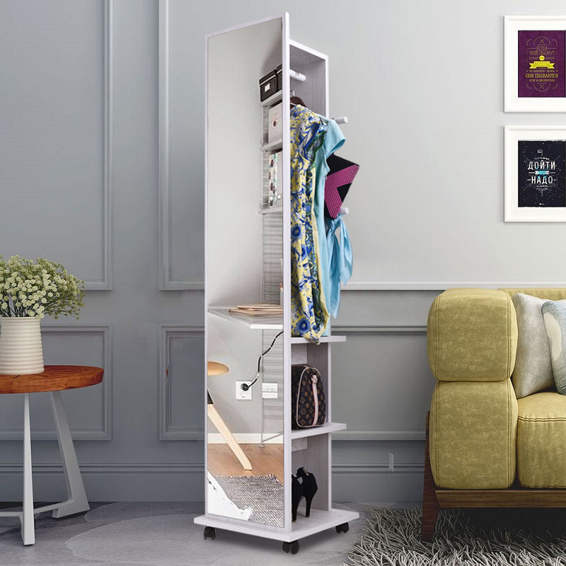 ตู้กระจกใส่เครื่องประดับหมุนได้ 360 องศา