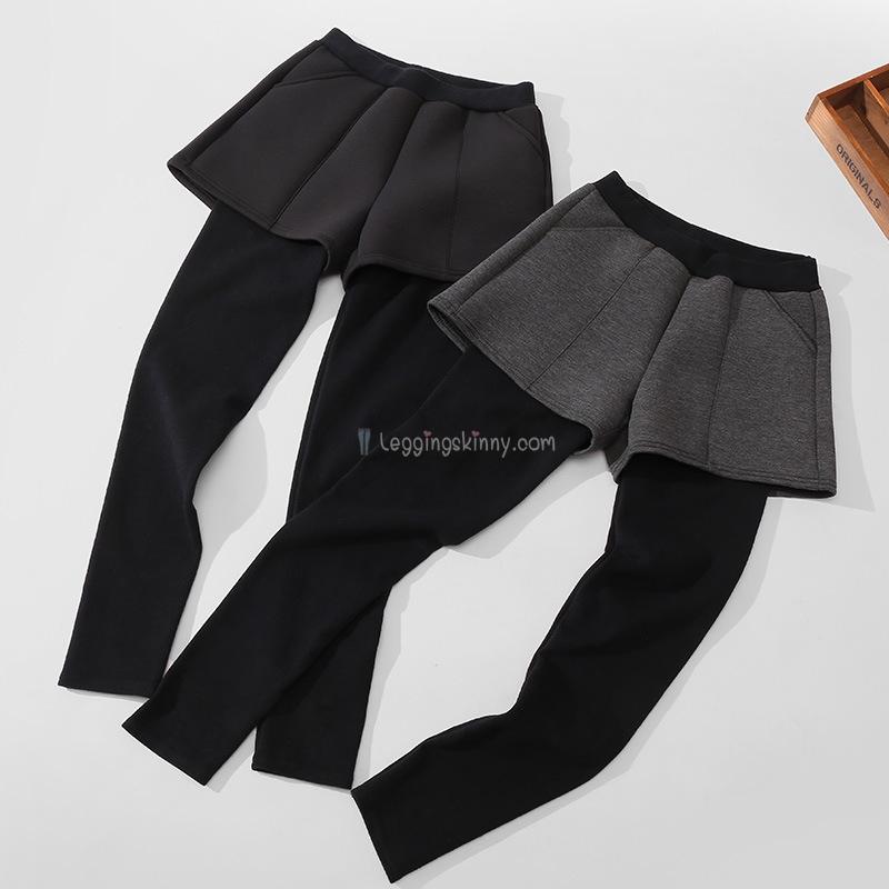 เลกกิ้งกางเกงขาสั้นผ้าฝ้ายหนา (ไม่บุขน) มี 2 สี ปลีก 490 / ส่ง 460