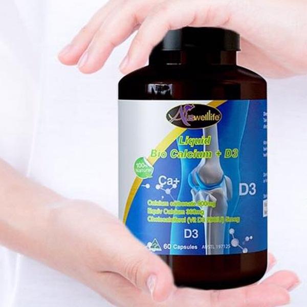 Auswelllife Liquid Bio Calcium + D3 ออสเวลไลฟ์ ลิคควิด ไบโอ แคลเซียม +ดี3 60 แคปซูล ราคา 950 บาท ส่งฟรี EMS