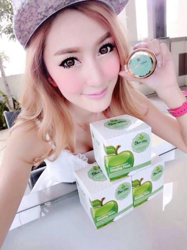 Choo Waii Fresh Green Apple Essence Mask ชูวาอี้ มาส์คหน้าใส สูตรเข้มข้น