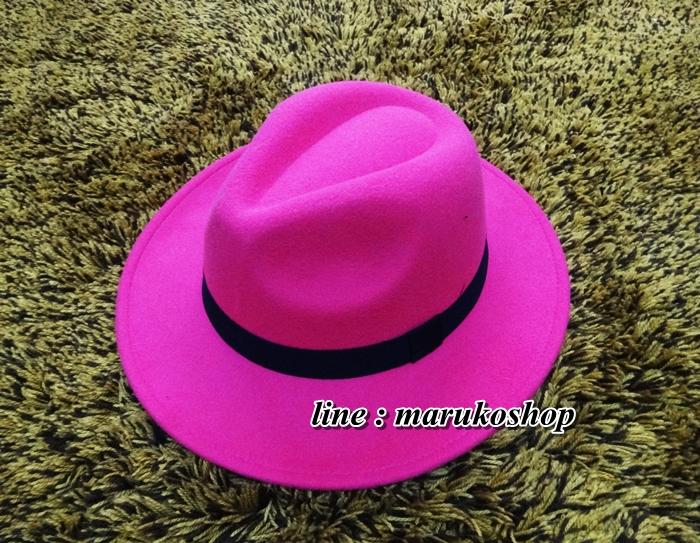 หมวกปานามา สักหลาดสีชมพู ผ้าสักหลาดเนื้อดี เย็บขอบ ปีกกว้าง 7ซม รอบศรีษะ 62 ซม. (สินค้าพร้อมส่งค่ะ) **รูปถ่ายจากสินค้าจริง งานสวยจริงคะ**